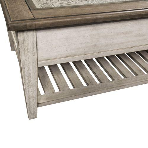 Rect Ceiling Tile Cocktail Table