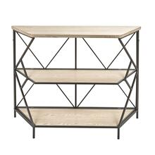 "Wood / Metal 44"" 3 Tiered Shelf Unit, Brown"