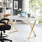 Sector Office Desk in White Gold Product Image