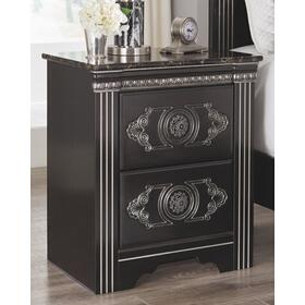 Banalski Two Drawer Night Stand Dark Brown