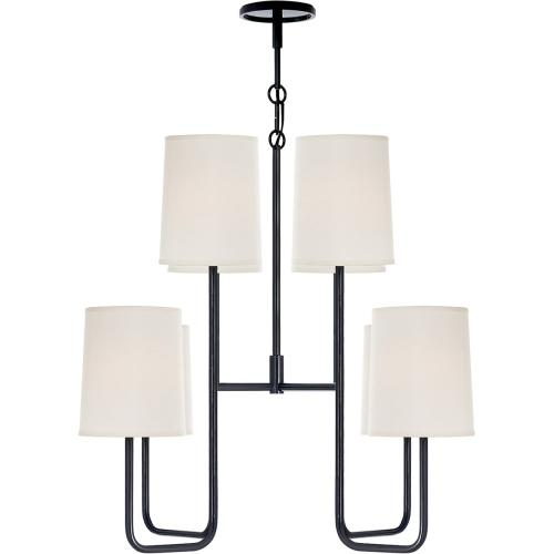 Visual Comfort BBL5081C-S Barbara Barry Go Lightly 8 Light 31 inch Charcoal Chandelier Ceiling Light