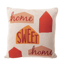 """See Details - """"Home Sweet Home"""" Knit Pillow"""