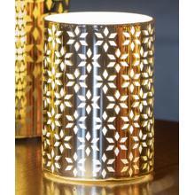 "4"" Gold Snowflake LED Candle"