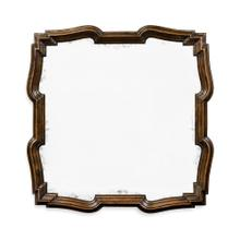 Rustic Walnut Antique Mirror