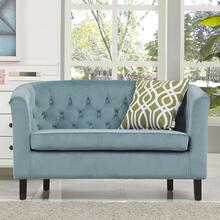 Prospect Performance Velvet Loveseat in Sea Blue