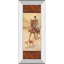 """On The Hunt Il"" By Linda Wacaster Mirror Framed Print Wall Art"