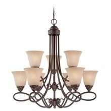 25029-OLB - 9 Light Chandelier