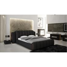 Modrest B1305 Modern Black & Red Bonded Leather Bed