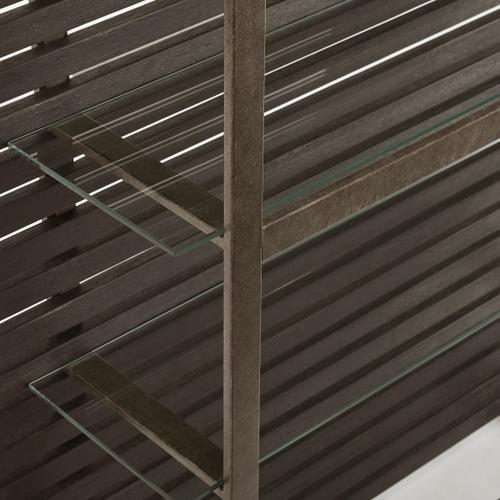 Wood Slat Etagere