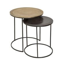 S/2 Aluminum Nesting Tables, Multi