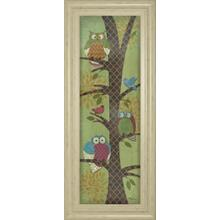 """Fantasy Owls Panel I"" By Paul Brent Framed Print Wall Art"