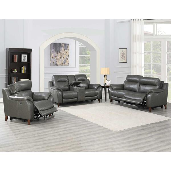 Trento 3-Piece Dual-Power Leather Reclining Set (Sofa, Loveseat & Chair)