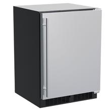 See Details - 24-In Built-In Refrigerator With Door Storage with Door Style - Stainless Steel, Door Swing - Right