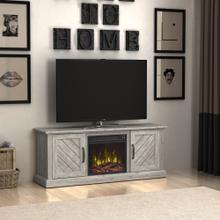 """View Product - Belcrest TV Stand for TVs up to 60"""" with Electric Fireplace, Valley Pine"""