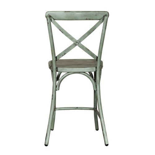 Liberty Furniture Industries - X Back Counter Chair - Green