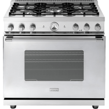 "Range LA CUCINA 36"" Classic Stainless steel 5 gas, gas oven"