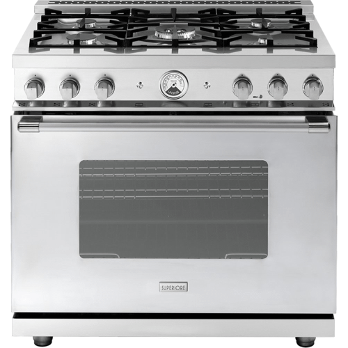 """Range LA CUCINA 36"""" Classic Stainless steel 5 gas, gas oven"""