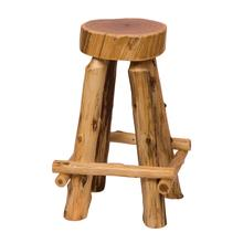 "Slab Barstool - 30"" high - Natural Cedar - Wood Seat"