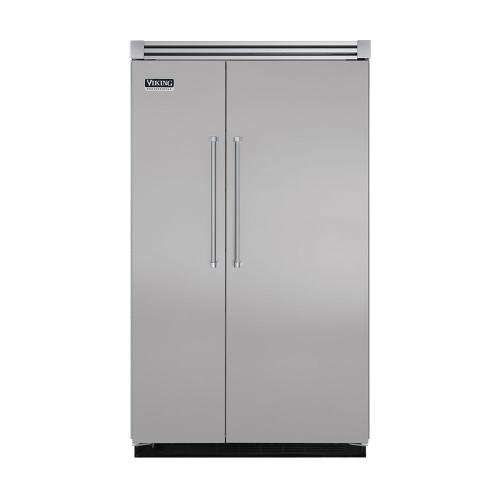 "Viking - Metallic Silver 48"" Quiet Cool™ Side-by-Side Refrigerator/Freezer - VISB Tru-Flush™ (48"" wide)"