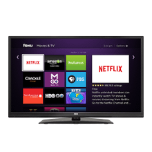 32'' Back Lit LED Roku TV DVD COMBO
