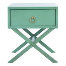 Odilia 1 Drawer Nightstand - Turquoise
