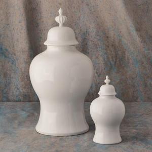 Beaufort Ginger Jar-White-Sm