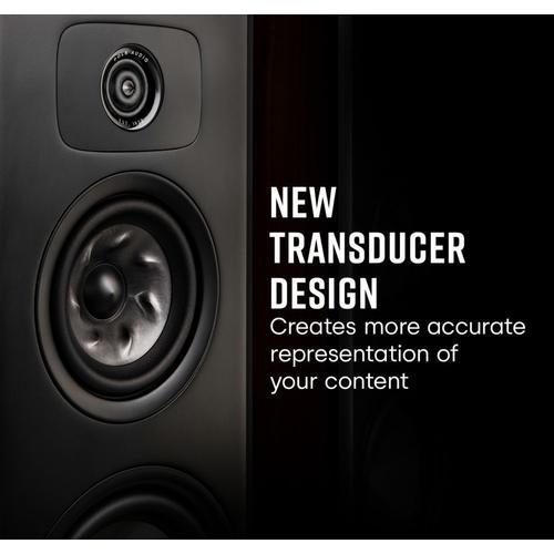 Legend Series Premium Floorstanding Tower Loudspeaker in Brown Walnut