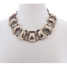 BTQ Burnished Gold Plaque Necklace