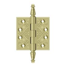 "3-1/2"" x 3-1/2"" Square Hinges - Polished Brass"