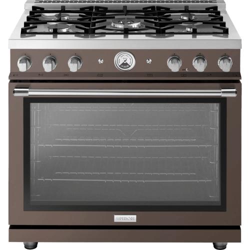 "Range LA CUCINA 36"" Classic Velvet Finishing Terra 5 gas, gas oven"