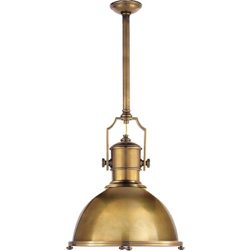 Visual Comfort CHC5136AB-AB E. F. Chapman Country Industrial 1 Light 20 inch Antique-Burnished Brass Pendant Ceiling Light in Antique Brass