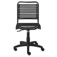 See Details - Allison Bungie Flat Low Back Office Chair In Black With Graphite Black Frame and Black Base