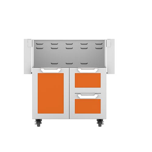 """30"""" Hestan Outdoor Tower Cart with Door/Drawer Combo - GCR Series - Citra"""