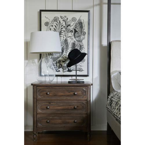 Accentrics Home - Dark Oak Three Drawer Nightstand