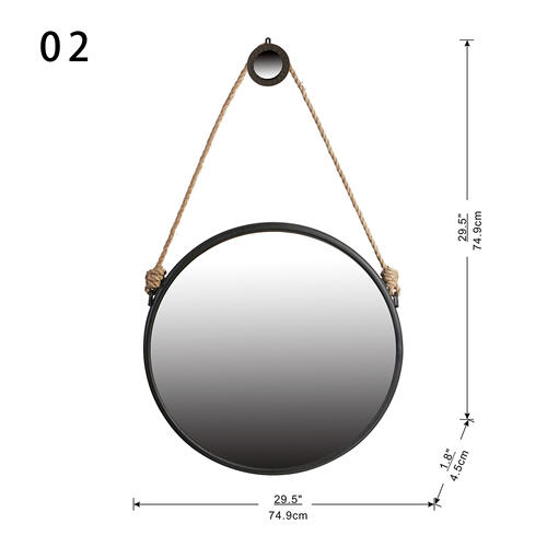 Mirror with Hanger,Large