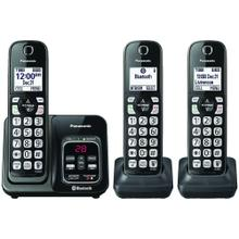 See Details - Link2Cell® Bluetooth® Cordless Phone with Voice Assist & Answering Machine (3 Handsets)