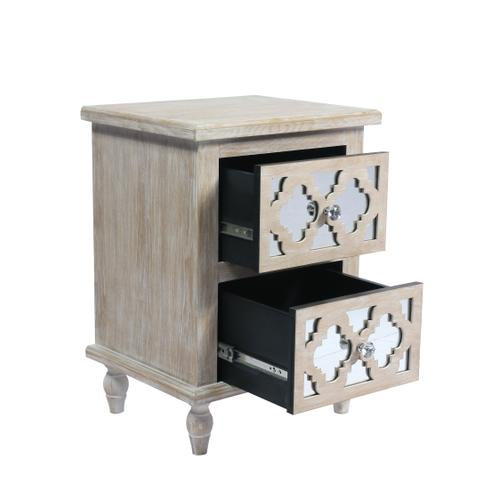 Canterwood 2-drawer Accent Table, Whitewash Ac701-04