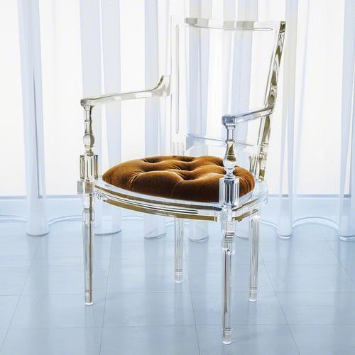 Marilyn Acrylic Arm Chair-Brown Sugar