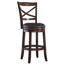 Faux Leather Tall Swivel Barstool
