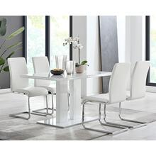 Amanda 5 Piece White Rectangular Dining Set