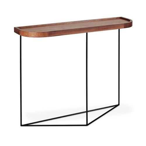 Porter Console Table New Walnut / Black