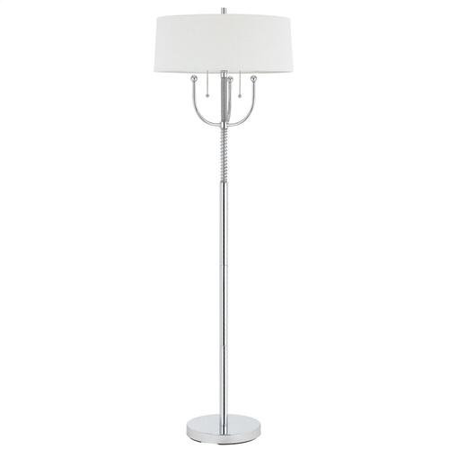 60W X 2 Lesinametal Table Lamp With Linen Shade