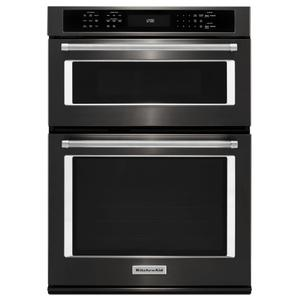 "KITCHENAID27"" Combination Wall Oven with Even-Heat(TM) True Convection (lower oven) - Black Stainless Steel with PrintShield(TM) Finish"