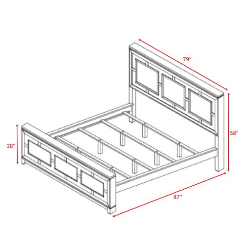 London King Panel Bed