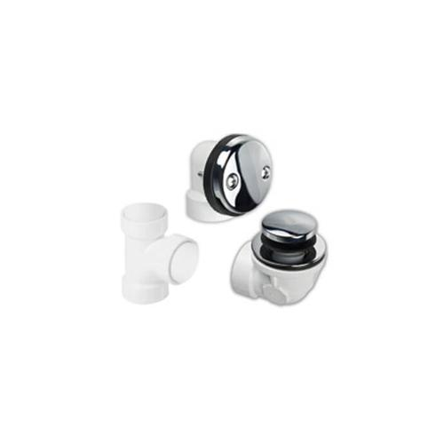 Mountain Plumbing - PVC Plumber's Half Kit with Economy Soft Toe Touch Trim (Two Hole Face Plate) - Polished Nickel