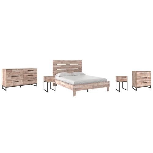 Ashley - Queen Platform Bed With Dresser, Chest and 2 Nightstands