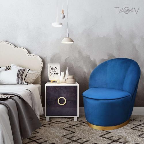 Tov Furniture - Julia Navy Velvet junior Chair