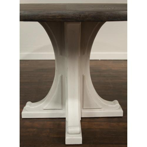 Round Pedestal Dining Table Base - Chalk Finish