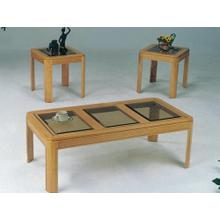 3PC OAK C/E TABLE SET