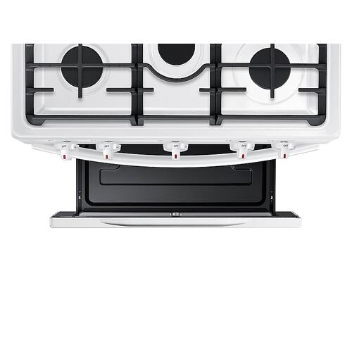 5.8 cu. ft. Freestanding Gas Range with Convection in White
